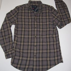 ST. JOHNS BAY Button-Up-Front Flannel Shirt Mens M